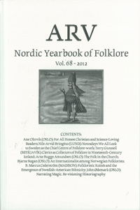 Arv - Nordic Yearbook of Folklore Vol. 68 - 2012