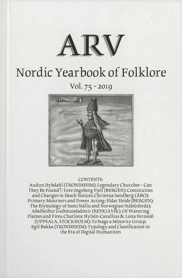 Arv - Nordic Yearbook of Folklore Vol. 75 - 2019