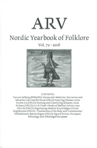 Arv - Nordic Yearbook of Folklore Vol. 72 - 2016